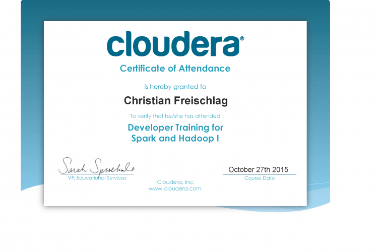 Developer Training for Spark and Hadoop I – Cloudera